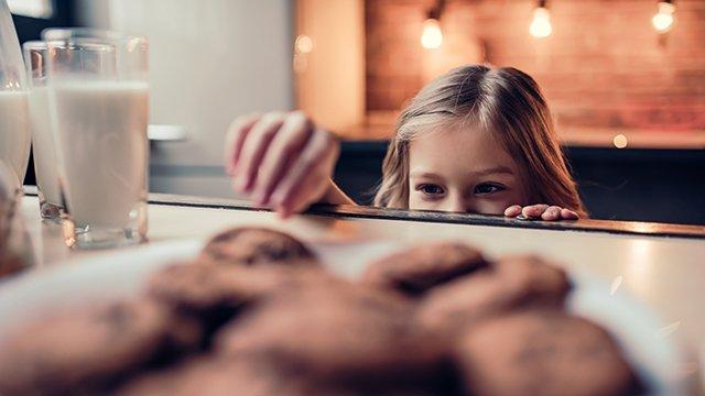 Kids snack in Plan-Francey