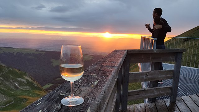 Wine and Tapas at the top