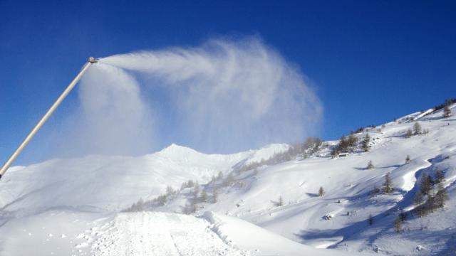 Besichtigung der Schneekanonen