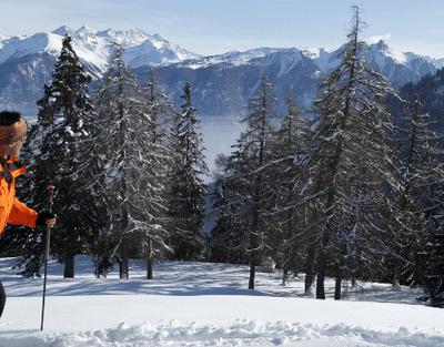 Sentier hivernal de Jorasse